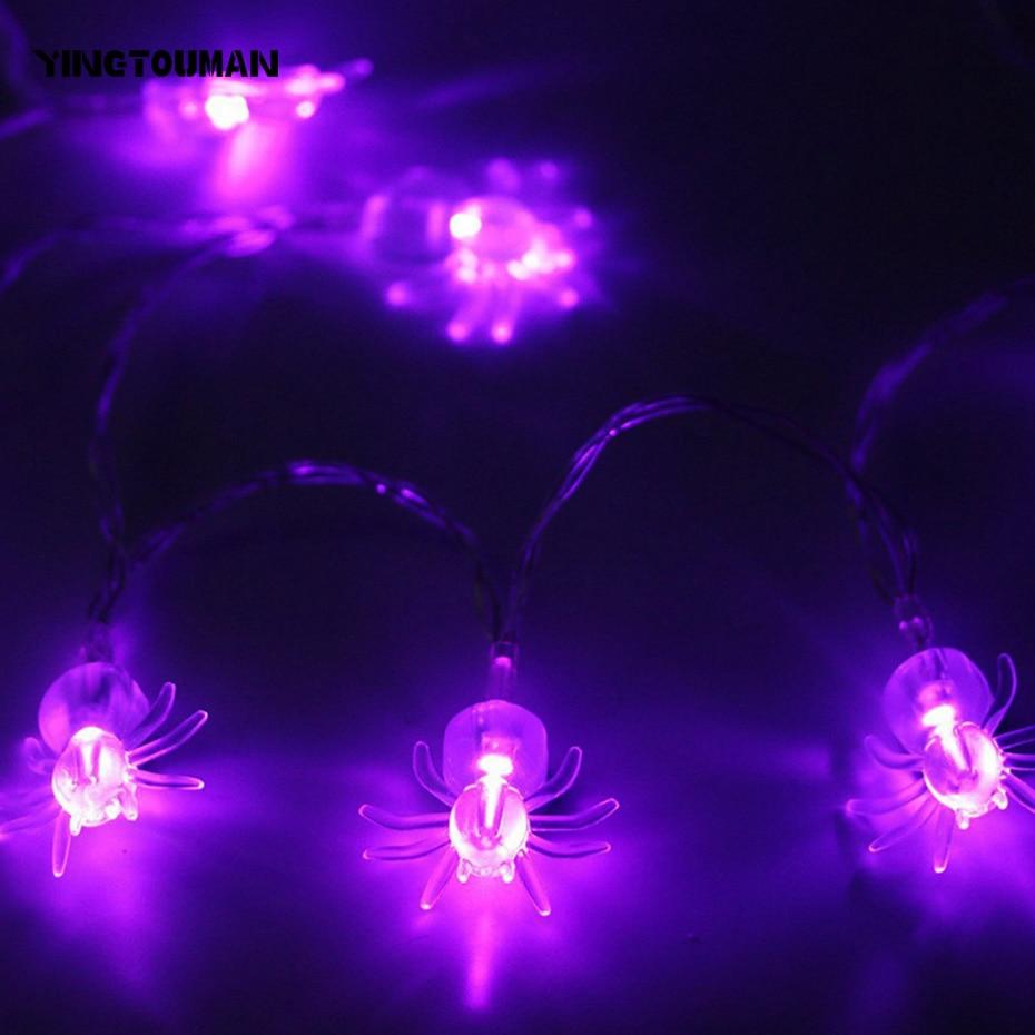 Yingtouman 1.5 м 10LED Паук свет Строка Светодиодный Батарея питанием лампы для рождественской вечеринки украшения светодиодов гирлянда света для с...