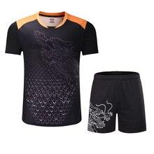 Новые китайские наборы для настольного тенниса для мужчин/женщин, одежда для пинг-понга, Майки для настольного тенниса, футболки для настольного тенниса+ шорты, спортивные костюмы
