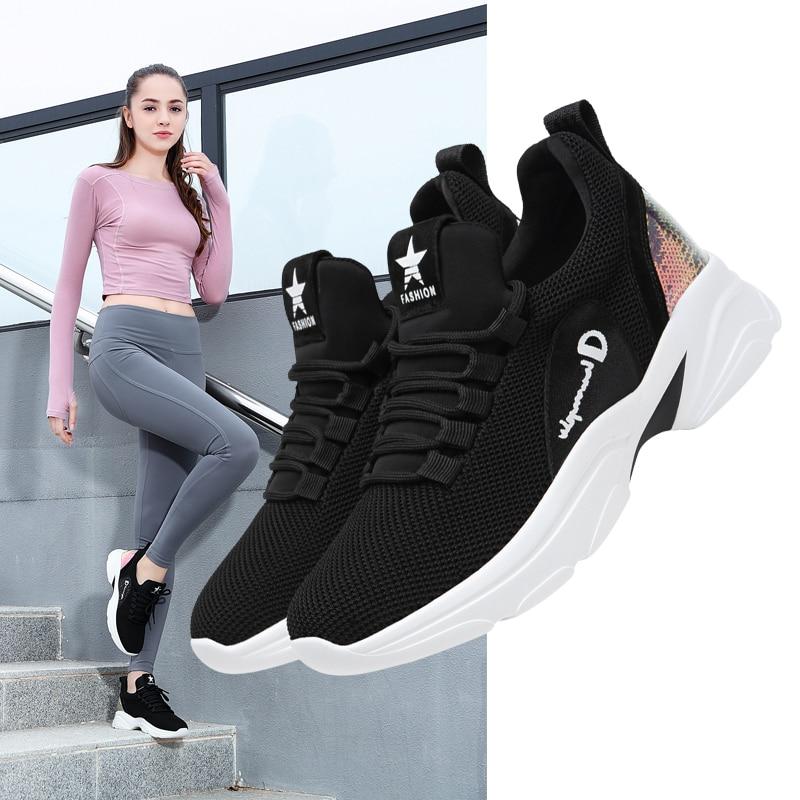 Guciheaven Women Casual Sneaker Ladies Walking Shoes Falt Platform Height Increasing Inside Heels