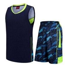 Blank version college basketball jersey & shorts new sleeveless training suit lonzo ball