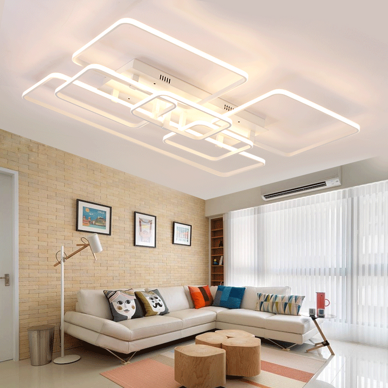 Hot Aluminum Modern Led Ceiling Lights For Living Room Bedroom Plafon Home Lighting Lamp