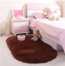 Cute oval thick silk wool bedroom bedside carpet long round wedding room mattress free shipping