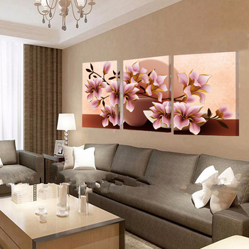 Framed Wall Art Flowers Canvas Painting Vintage Posters
