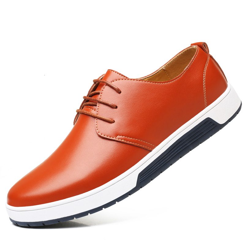 Hot 2018 Summer Large Size Men's Leather Shoes Mens Hollow Sandals Man Fashion Big Hole Flats Male Breathable Light Casual Shoes pinsen fashion women shoes summer breathable lace up casual shoes big size 35 42 light comfort light weight air mesh women flats