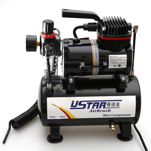 Model Spray Pump Mini Air Compressor Wall Paint Car paint Tool Airbrush with cylinder 220V