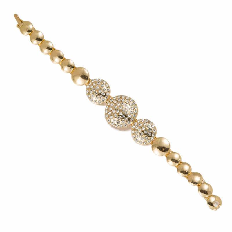 BAUS 2018 zestaw biżuterii ślubnej nigerii dubaj kolczyki w kolorze złota koraliki afrykańskie zestawy biżuterii dla kobiet kostium turecki biżuteria