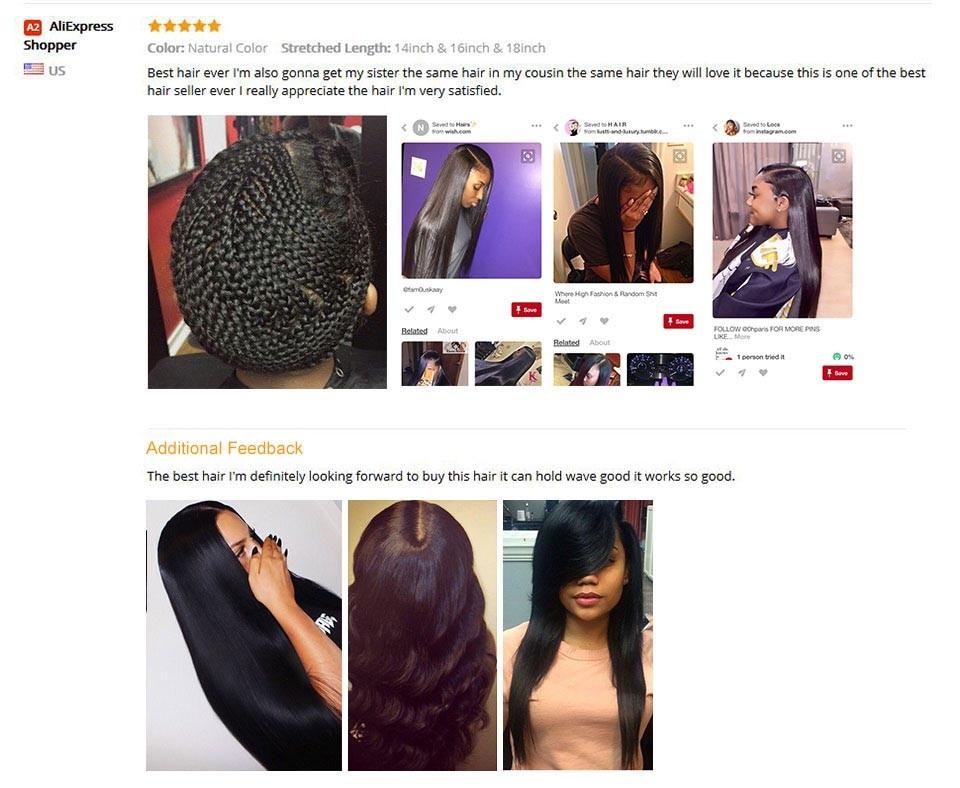 Straight Hair Weave 11
