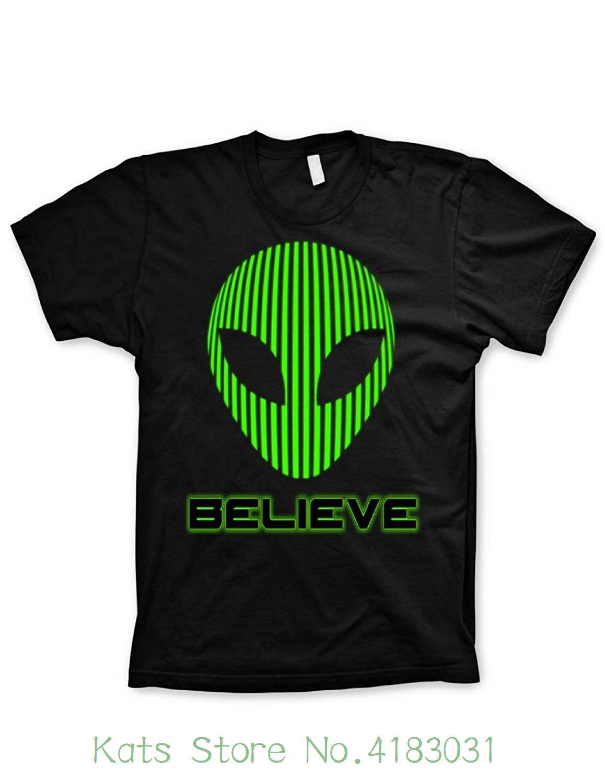 Alien Tshirt Believe Shirt Funny Tshirts Science Geeky Nerd Video Game Shirt Newest 2018 T Shirt Men Tshirt