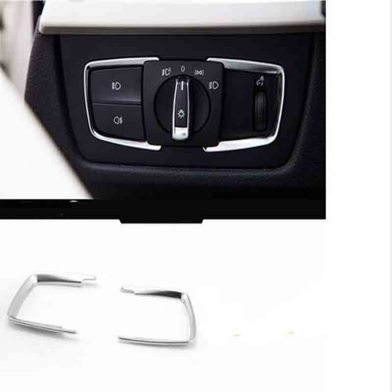 DNHFC vysoce kvalitní ABS Přepínač světlometů Kryt Kryt Oříznutí autodoplňky Pro BMW X5 F15 2013 2014 2015