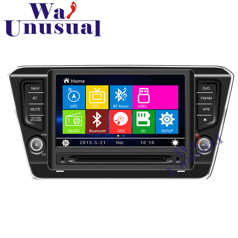 WANUSUAL 8 Professional Wince Car Entertainment System Radio DVD Player For Skoda Superb 2016 Auto GPS Navigation 8GB Free Maps