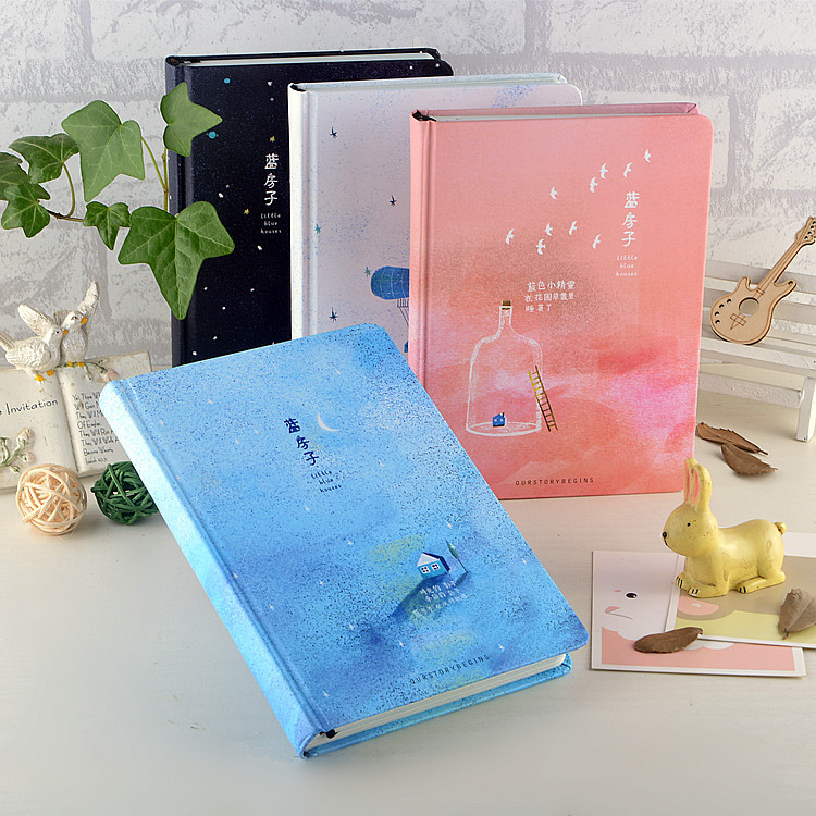 Creative Student Hardcover Notepad Cute little fresh notebooks students Stationery Diary 2018 planner school& office supplies creative leather notebook a5 school office supplies stationery cute diary notebooks metal rubber buckle conference notepad gift