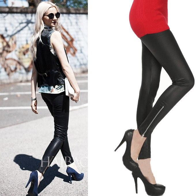 Free shipping women's All match fashion matt faux leather ...