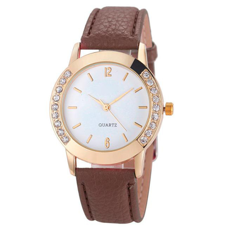 Relogio Feminino Women Watches Watch Dropshipping Gift Diamond Analog Leather Quartz Wrist Fashion August1 women fashion watches rose gold rhinestone leather strap ladies watch analog quartz wristwatch clocks hour gift relogio feminino