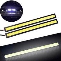 Vehemo 2x White Super Bright COB Car LED Light DRL Waterproof 17cm 12V Durable