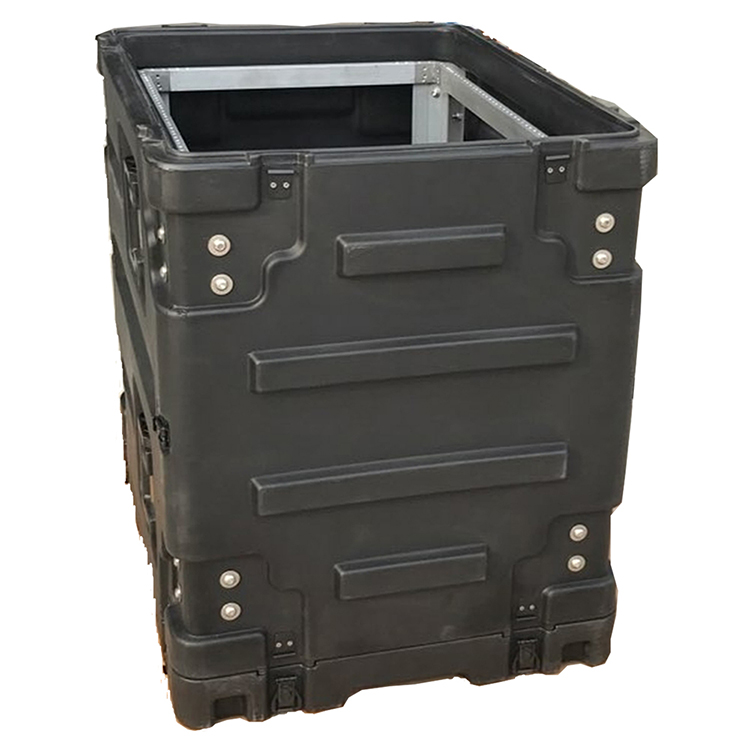 Tricases Shanghai Factory Waterproof Anti-crash Roto Shock Rack Case 14U High Military Standard RU140