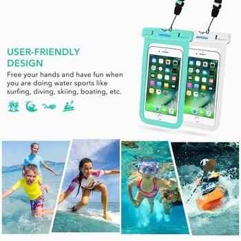 Mpow IPX8 กระเป๋าโทรศัพท์กันน้ำ 6 นิ้ว Universal โทรศัพท์สำหรับ iPhone X/8/7/6 /Huawei/Xiaomi สำหรับกิจกรรมกลางแจ้ง 2 แพ็ค