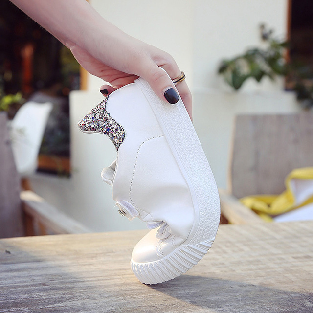 De Petit En Casual Cuir Plat La Coréenne 1 2019 2 Chaussures Sauvages Blanc Nouvelle Femmes Printemps Version wYSTSI