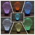 A luz da noite 3D 7 cores mudando lâmpada LED forma ilusão lâmpada Presente Creative home decoração de Mesa quarto Lâmpada LED