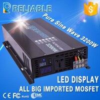 3200W Car Power Inverter 12V 220V Pure Sine Wave Solar Inverter DC to AC Converter Transformer 24V/36V/48V to 110/120V/230V/240V