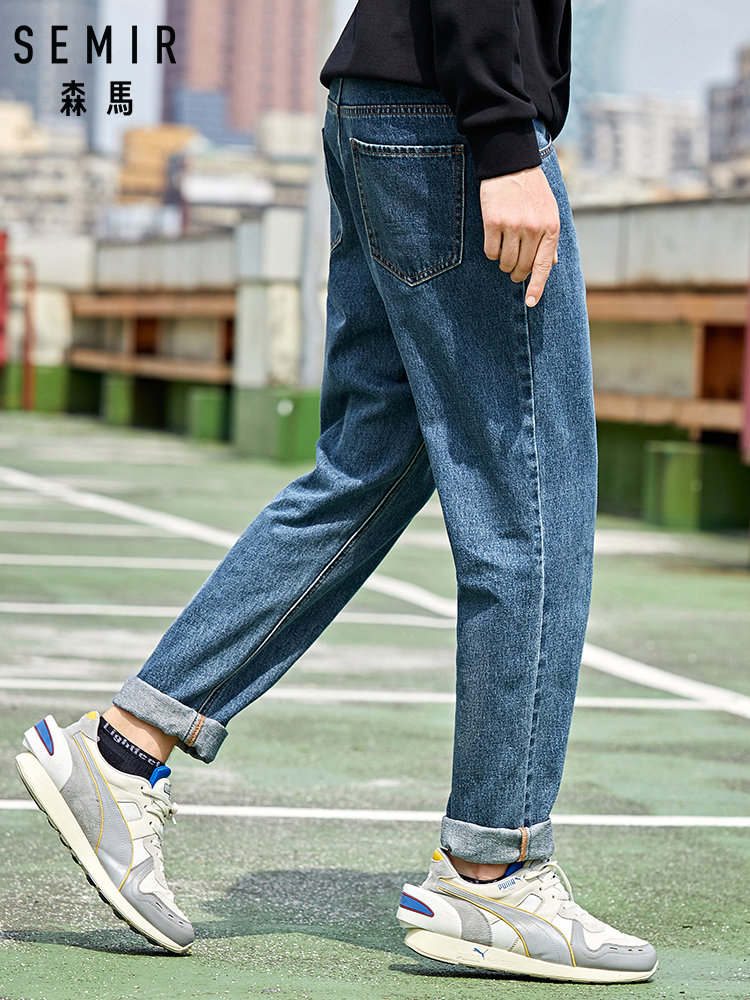 SEMIR Denim Jeans Men 2020 New Loose Cotton Jeans Man Autumn Tapered Pants Trend Soft Cotton Street-wind