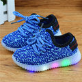 Luminous Sneakers  Led Shoes Kids Led Shoes For Boys Girls Shoes Luminous Lighted LED Lights Children Shoes Flat Lace-Up Sneaker