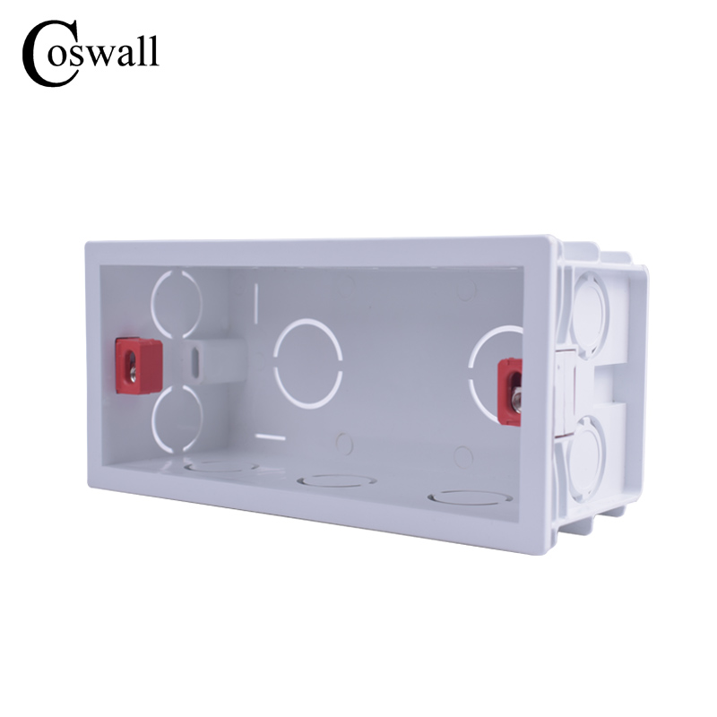 Coswall Super Quality 144mm*67.5mm Internal Mounting Box Back Cassette For 154mm*72mm Wall Light Switches And Sockets