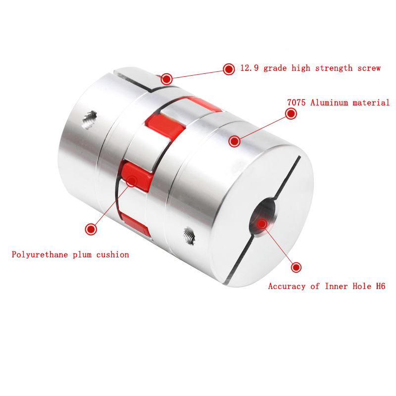 Shaft Coupling Adapter Shaft Coupler Stepper Motor Jaw Lightweight Flexible Plum Coupling Connector Coupler Shaft Sleeve for Power Transmission System