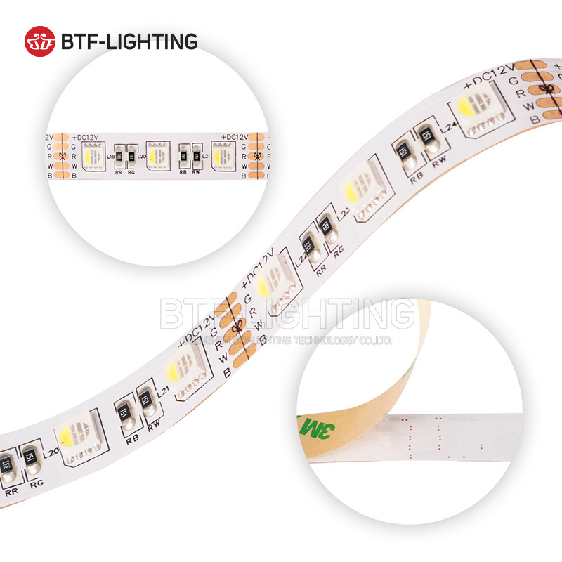 Wholesale 5M SMD 5050 4 Colors in 1 RGBW RGBWW Strip Light DC12V 12mm PCB LED RGB+ White / Warm White Non waterproof IP30/IP65