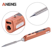 2017 Full Set Intelligent Programmable Electric Soldering Iron Digital LCD TS100 Mini Soldering Iron Control Terminal
