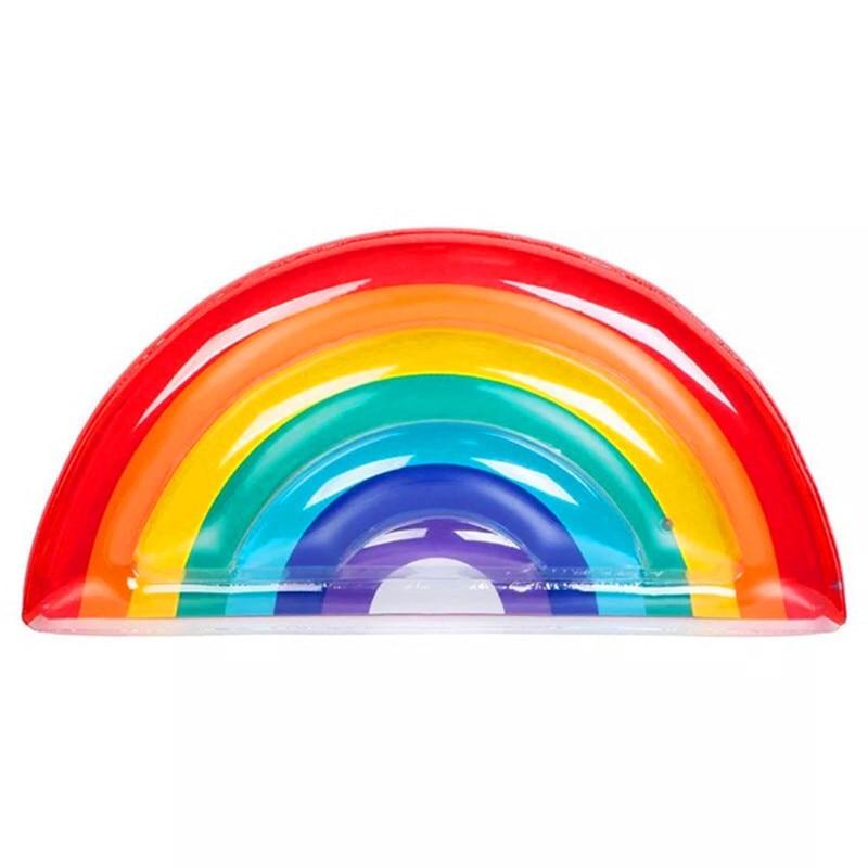 Géant gonflable arc-en-ciel flotteur piscine anneau de natation bobine lit bain de soleil tapis de plage matelas d'air jouets pour enfant adulte plage fête