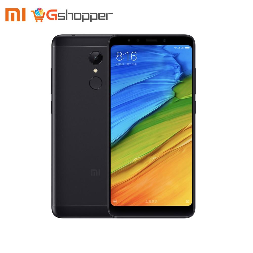 Mondial Version Xiaomi Redmi 5 2 gb 16 gb/3 gb 32 gb Smartphone 5.7 18:9 Affichage Snapdragon 450 Octa Core 12MP Caméra D'empreintes Digitales