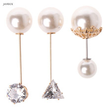 3Pcs Assorted Imitation Pearl Crystal Brooches Safety Pins Set For Women Jewelry Accessories Pearls All-match