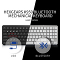 HEXGEARS X1 Bluetooth клавиатура RGB Подсветка клавишные колпачки из ПБТ тонкий игровой переключатель kailh клавиатура геймера Беспроводной механическ...