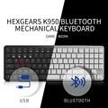 HEXGEARS X1 Tastiera Bluetooth RGB Retroilluminazione PBT Keycap Slim Gaming Kailh Interruttore Tastiera Gamer Wireless Tastiera Meccanica