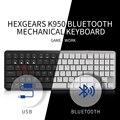 Hexgeards X1 Bluetooth клавиатура RGB подсветка клавишные колпачки из ПБТ тонкий игровой переключатель kailh клавиатура геймера Беспроводная механическ...