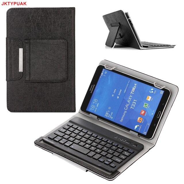 meet 20e4b 100f5 JKTYPUAK for Samsung Galaxy Tab 4 8.0 T330/T331/T335 8 Inch Universal  Laptop Tablet Wireless Bluetooth Keyboard PU Leather Case