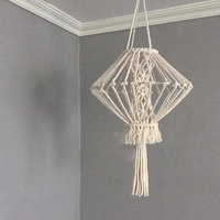 Macrame Tapestry Wall Hanging Hand woven Chandelier Lampshade Bohemian Decor House Model Room Coffee Restaurant Decoration