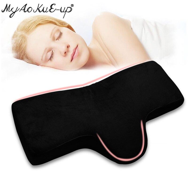 Eyelash Extension Pillow Shelf For Grafting Eyelashes Pillows Lash Pillow MakeUp Tools Memory Foam Core for eyelashes extension