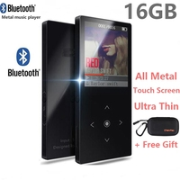 16GB Touch Button Bluetooth MP3 Music Player Ultra Thin Color Screen Hi Fi Sound Walkman Expandable