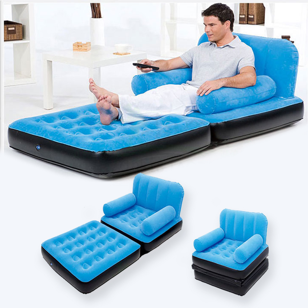 Car Styling Inflatable Pull Out Sofa Couch Full Single Air Bed