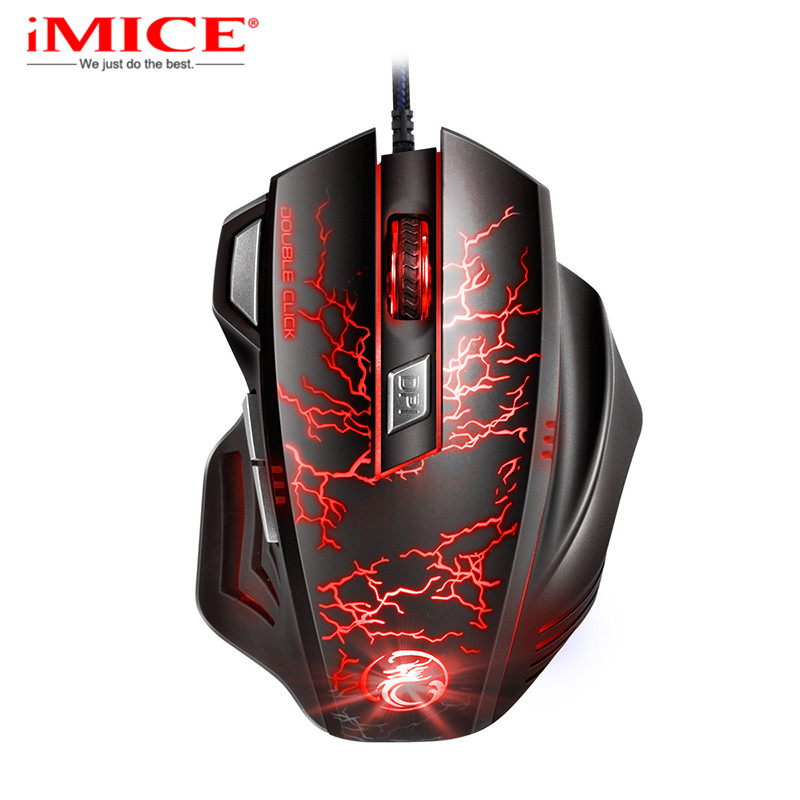 Programmable 7 Button Gaming Mouse 3200 DPI USB Wired Optical Ergonomics Computer Mice Game For PC