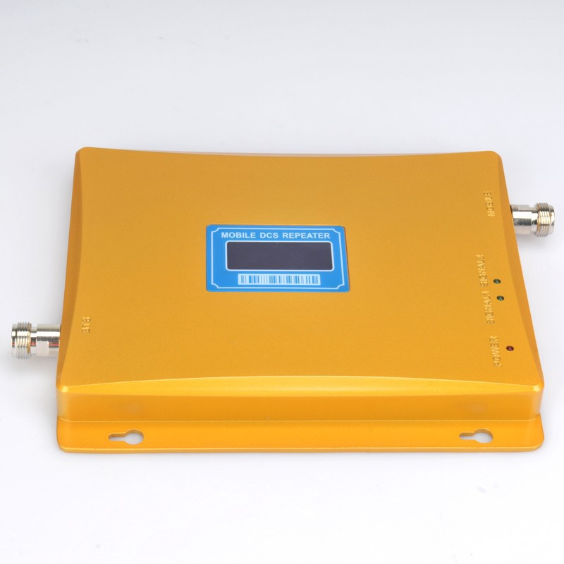 LCD Display 2018 New Model DCS 65dBi 1800MHz Mobile Signal Repeater DCS Booster Amplifier Extender Coverage 1000m2