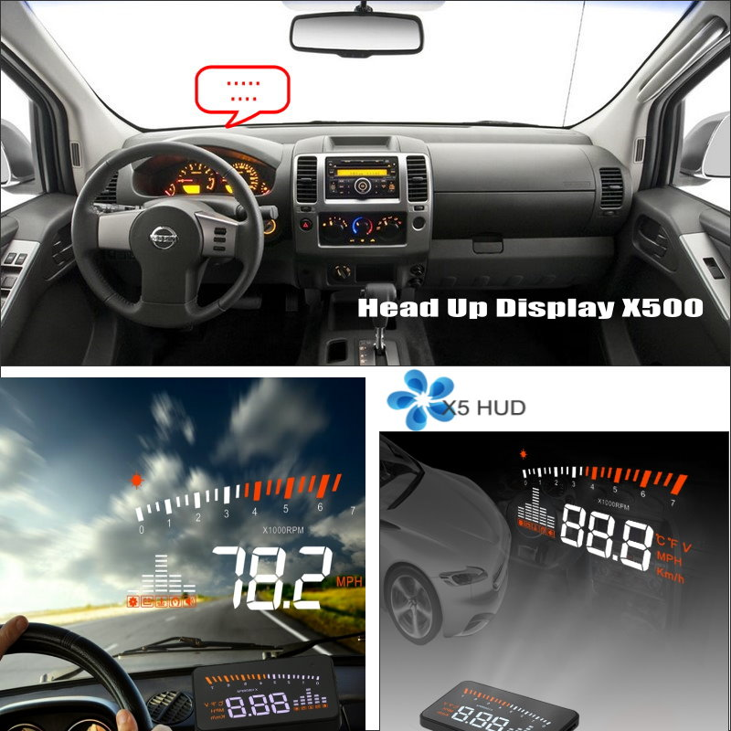 Car HUD Head Up Display For Nissan Frontier GT-R Juke March Maxima - Safe Driving Screen Projector Refkecting Windshield