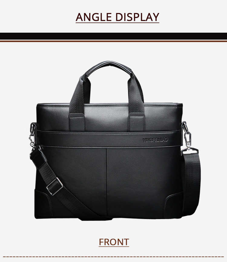 HTB1ofDEXjnuK1RkSmFPq6AuzFXaQ 2020 Men's Business Black Casual Bag pu leather Briefcase men's Tote bags Brown High quality male Business large capacity