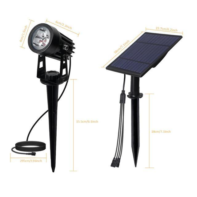 T-SUNRISE LED Solar Garden Light IP65 Waterproof Solar Lamp Outdoors Landscape Lamp For Outdoor Garden Lawn 6