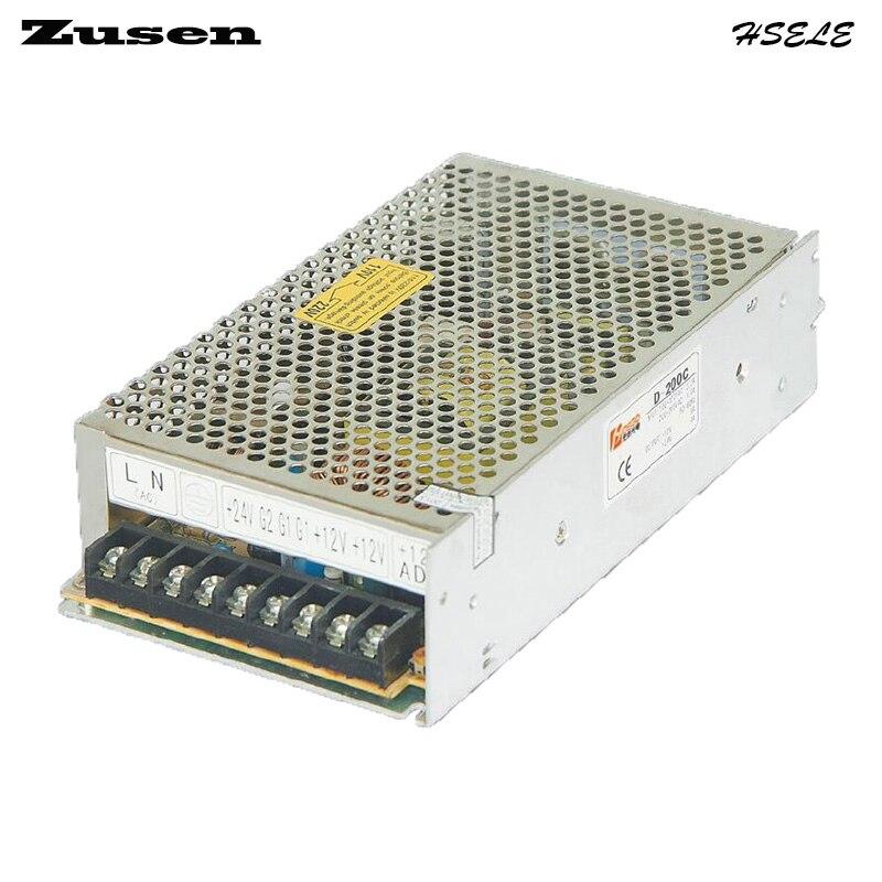 все цены на Zusen D200W-B  Dual Switch Power supply output 200w 110V/220VAC to 5~24VDC онлайн