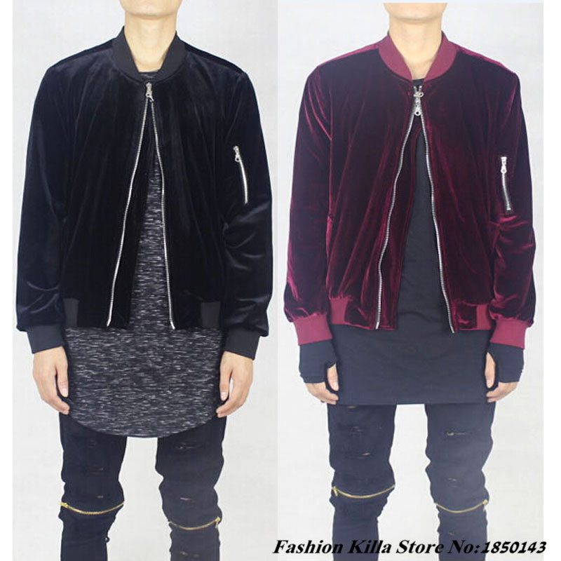 2016 new fashion black and maroon velour velvet mens Designer clothing for men online sales