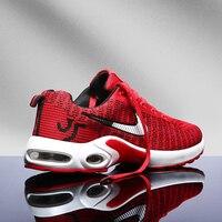 Дышащая повседневная обувь; новые удобные мужские туфли большого размера; модные легкие кроссовки из сетчатой ткани; 45