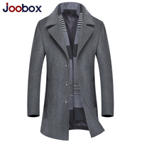 JOOBOX Men luxury wool Jackets and Coats Overcoats Male Casual Fashion Slim Fitted Large Size Outwear Wool Jackets Jaqueta Men