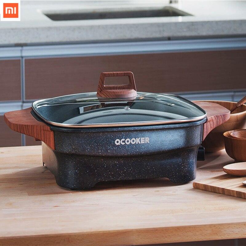 Nouveau Xiaomi Mija multi-fonction ménage électrique Pot rapide chauffage antiadhésif 1500 W prise étanche 4L Steak frit poulet frit